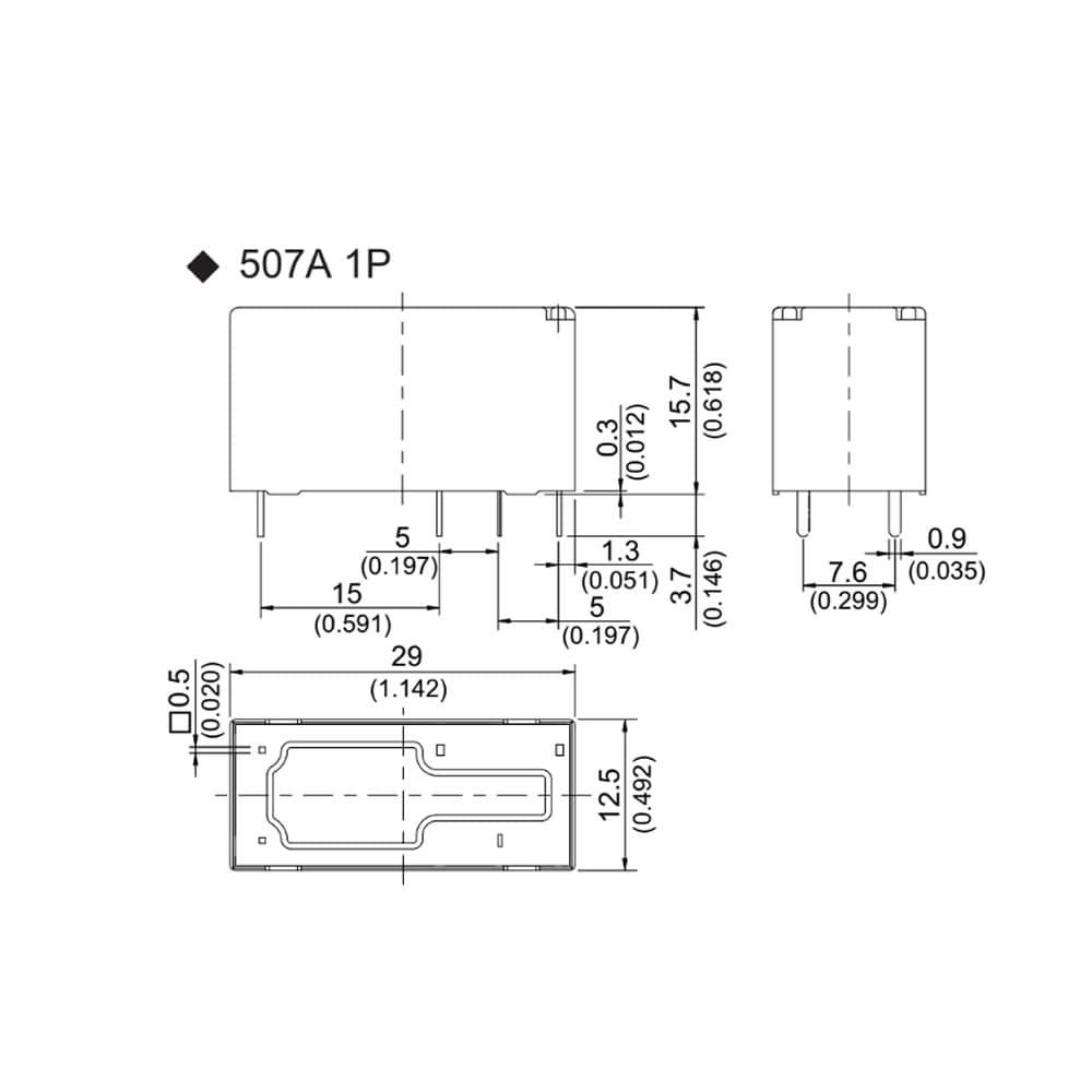 507 Low Profile 17A PCB Relay Faston Terminals JW ADJ RT RX G2RL AZ743 HF115F