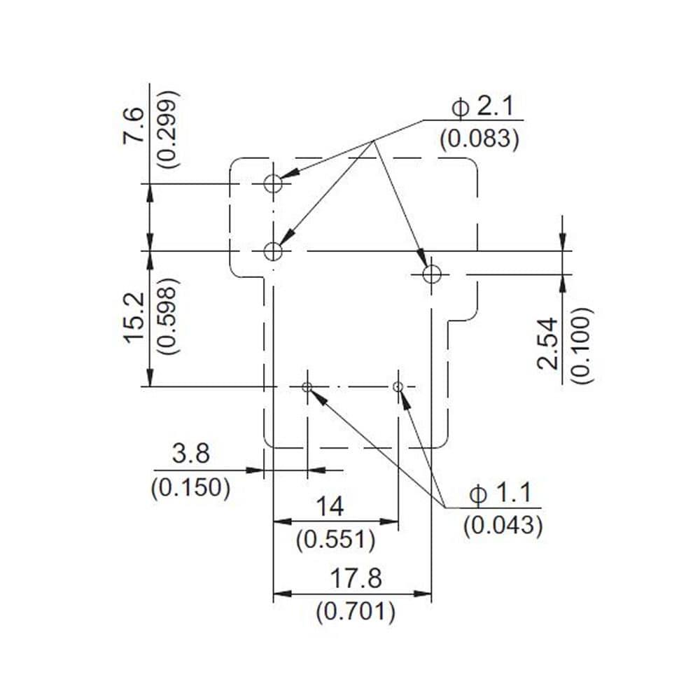 832 AM Automotive 30A PCB Relay