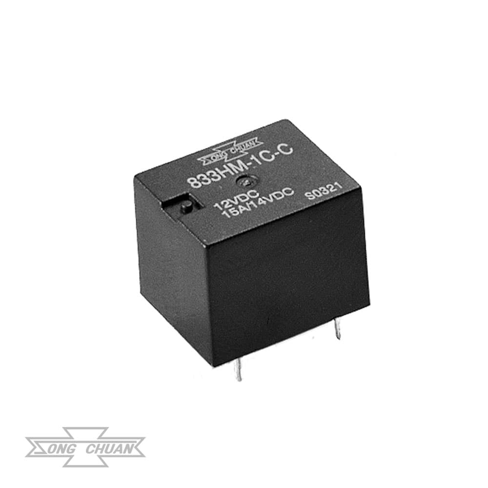 833HM Automotive 15A Sugar Cube PCB Relay