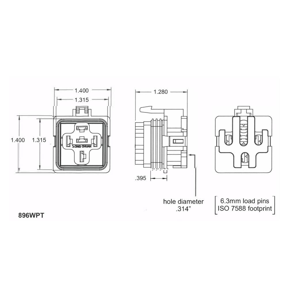 896 WPT Weatherproof Socket, Song Chuan Part Series: 896WPT